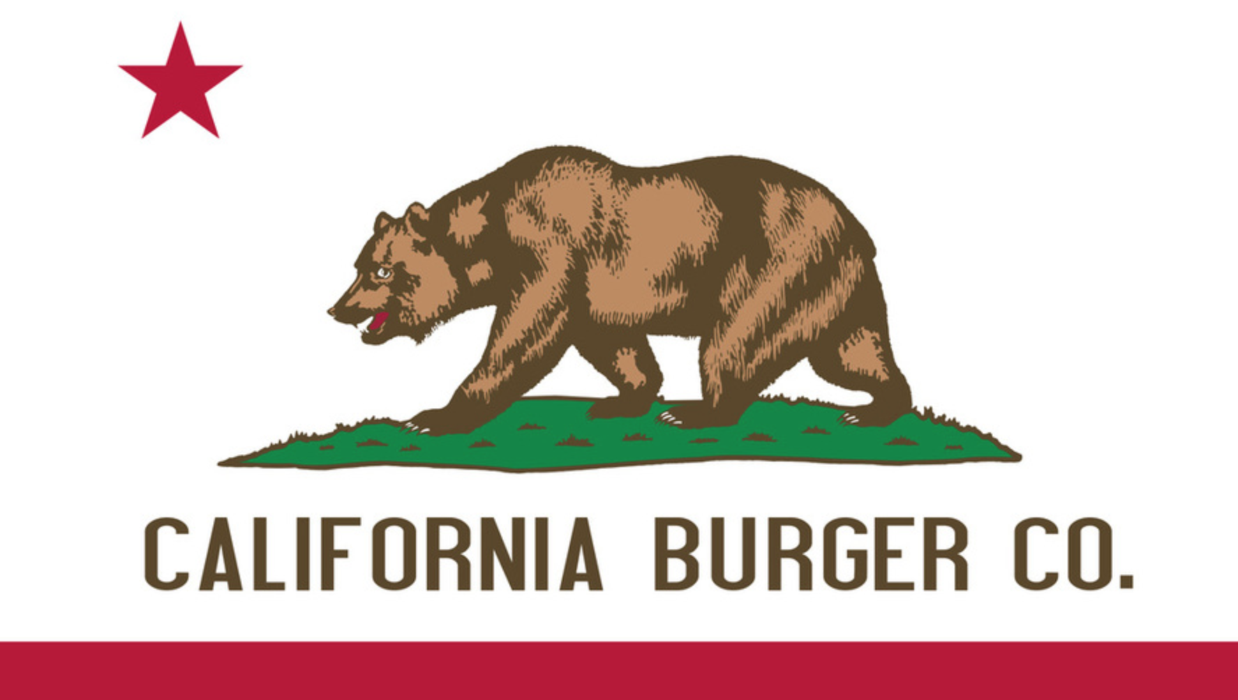 California Burger Logo Based Loosely on the California Flag