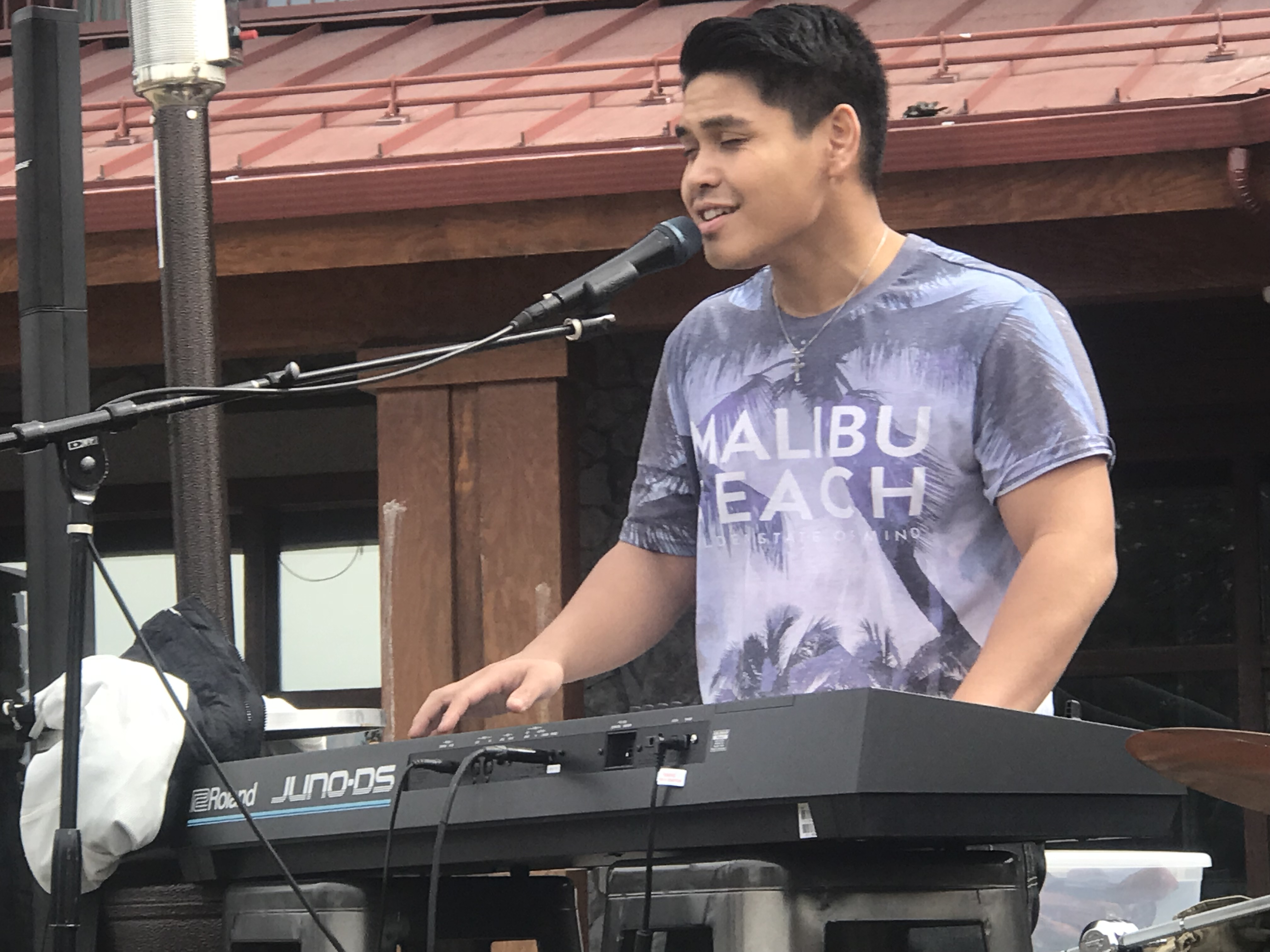 Daniel playing keyboards