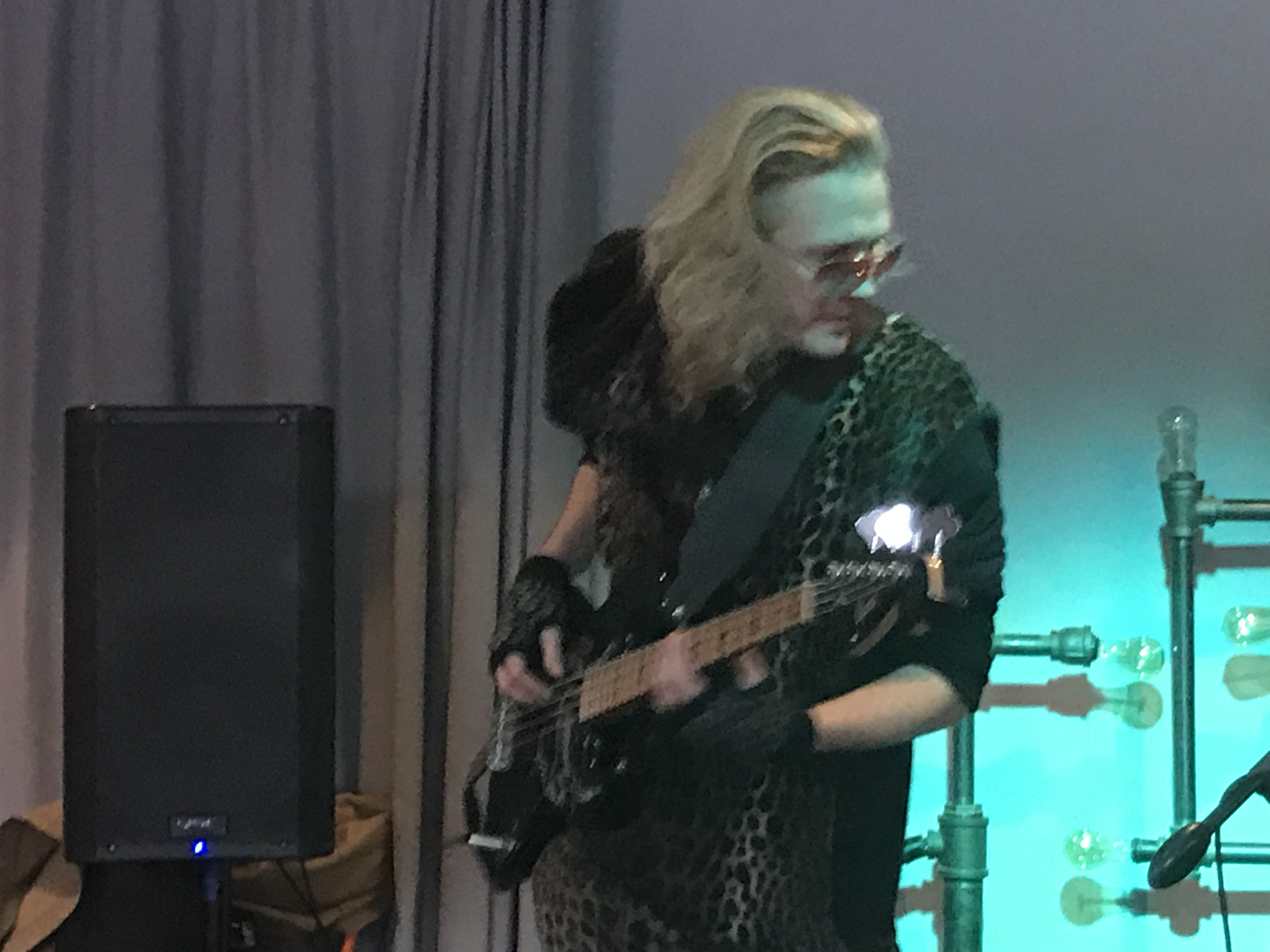 Todd playing electric bass