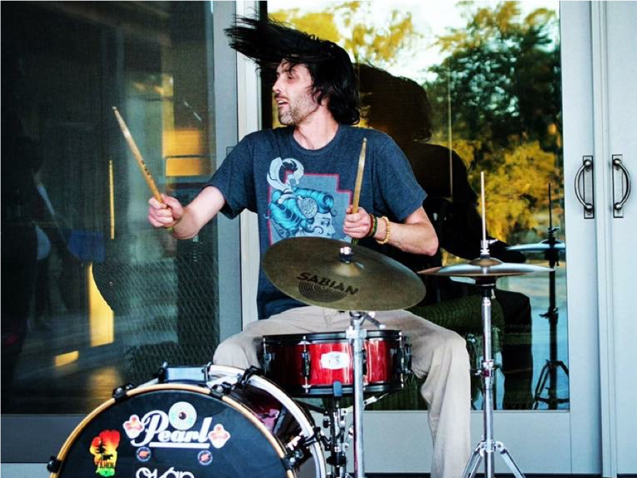 Chris Jackson playing drums